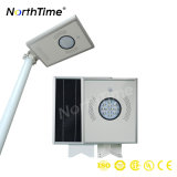luz de calle solar integrada recargable de 12W LED con el movimiento