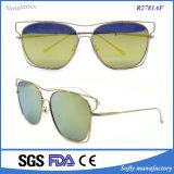 Óculos de sol baratos espelhados do metal da qualidade superior do estilo do desenhador o frame o mais atrasado
