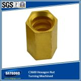 CNC MachinedのC3600 Hexagon Nut Turning