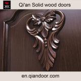 검은 호두나무 단단한 나무 문 실내 나무로 되는 새겨진 문