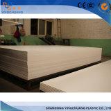 Толщина других пластмассовых материалов типа ПВХ пенопластовый лист