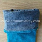 Голубой коровы Split кожаные перчатки сварщика работы