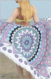 Diámetro redondo 100% de la toalla de playa de Microfiber del algodón 150 cm