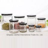 De eenvoudige Ronde voedsel-Gebruik Jam van het Glas, de Kruik van de Honing met Blik GLB