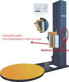 포크리프트 발 턴테이블 자전 필름 감싸는 기계