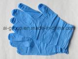 Sem Energia Azul descartável Luvas de nitrilo