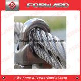 ステンレス鋼DIN741ワイヤーロープクランプケーブルクリップ