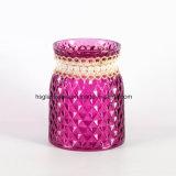 Vaso di vetro variopinto spruzzato stile del diamante