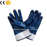 Ближний свет голубой нитриловые NBR рабочие перчатки для тяжелого режима работы