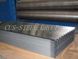 波形HDGの鉄のシートによって電流を通される金属の屋根版