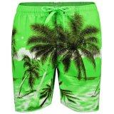 Lo Swimwear asciutto rapido dei circuiti di collegamento della spiaggia mette la scheda in cortocircuito di sport di acqua di stampa dell'albero di noce di cocco