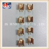 Выполненный на заказ латунный стержень используемый для щетки углерода електричюеского инструмента (HS-BT-002)