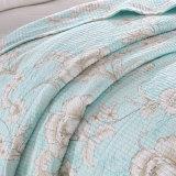 한국 Syle 특대 인쇄 침대보는 얇은 침대 침대 덮개를 누비질했다