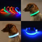 S M L LEIDENE van de Kat van de Hond van het Huisdier van de Anti Verloren Slot van de Ketting van de Flits Waarschuwing van de Halsband het Veilige Lichte