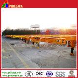 3 Aanhangwagen van de Oplegger van de Vrachtwagen van de Container van het Platform van de as 40tons de Skeletachtige Semi