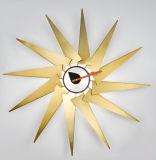 Orologio di rame di Trubine della parete di arte del sole del foglio