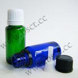 20ml Groen glazen druppelfles Euro-fles met pilfer-proof Dop en lepel
