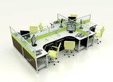Divisorio di alluminio della stazione di lavoro dell'ufficio lineare di modo con vetro (HF-YZ028)