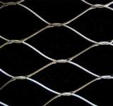 Het geknoopte Netwerk van de Kabel van het Roestvrij staal en Ferruled Netwerk