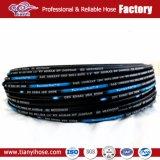 China fabricante de alambre de acero de alta presión de dos mangueras hidráulicas de goma trenzada R2