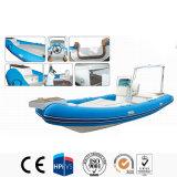 Hypalon costela casco de fibra de vidro rígido de barco barco inflável