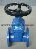 Válvula de porta Ductile assentada resiliente do ferro BS5163