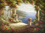 壁の装飾のためのハンドメイドの内陸の景色の油絵