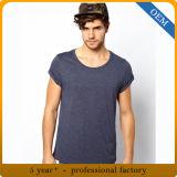 Commerce de gros hommes 95 Coton 5 Spandex Tagless T Shirt