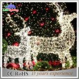 屋外の景色のクリスマスの熱いタイプLED 3Dのトナカイのモチーフライト