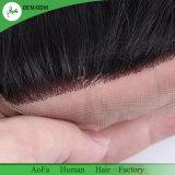 ボディ波が付いている自然な人間の毛髪のレースの閉鎖