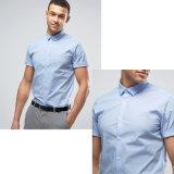 قميص نحيلة مع إمتداد في اللون الأزرق