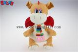 Polyester-Gewebe-Grün-knuddeliger Plüsch-Baby-Dinosaurier-Tierspielzeug 100% mit Schal für Kinder Bos1198