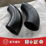 Aço carbono sem costura Cotovelo de raio longo