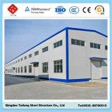 Almacén prefabricado del edificio del panel de emparedado del marco de la estructura de acero