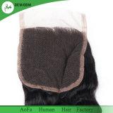 Fechamento brasileiro do laço da parte superior da onda de Extoic do cabelo do Virgin da forma de Aofa