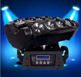 Luz principal móvil 8*10W RGBW 4in1 de la araña ligera de la viga LED de la etapa