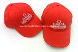 Profundo personalizados bordados rojos 6 Panel Gorra de béisbol