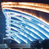 Arandela de la pared de la iluminación de la fachada de los media del LED (H-351-S18-W)