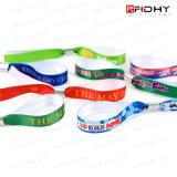 Bracelet de bracelet de tissu d'IDENTIFICATION RF de type de mode pour le festival/amusement