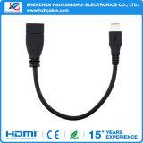 Zwart-witte 0.2m USB 3.1type C OTG USB voor MacBook