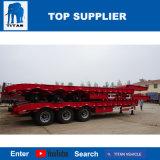 Aanhangwagen van het Bed van het Graafwerktuig van de Lader van de tri-As van de titaan de Lage Lage voor Vervoer van de Machines van 75 Ton en van 45 Ton