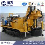 équipement de foret hydraulique portatif de puits d'eau de profondeur de 200m à vendre