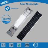 100W alto lúmen Rua Solar LED da lâmpada de iluminação do jardim