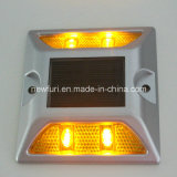 Yellow Solar 4/6 Flash LED Reflective Road Stud