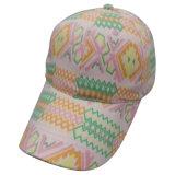 Gorra de béisbol de los 6 paneles con la tela floral Bb120