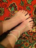 1 gesetzte Strand-nachgemachte Perlen-barfüßigsandelholz-Fußkettchen