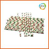 Decoração de Natal de casamento festa de papel de cor branco palha potável suprimentos