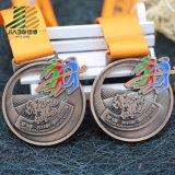 Старинных бронзовых Custom полые металлические марафон медаль с эмалью