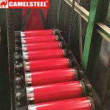 La bonne qualité a enduit la surface d'une première couche de peinture en acier galvanisée de bobine filmée pour la feuille de toiture