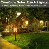 Nuevo Parpadeo de la lámpara Solar llama césped realista el baile de la luz de la llama de la luz de la decoración del jardín exterior impermeable